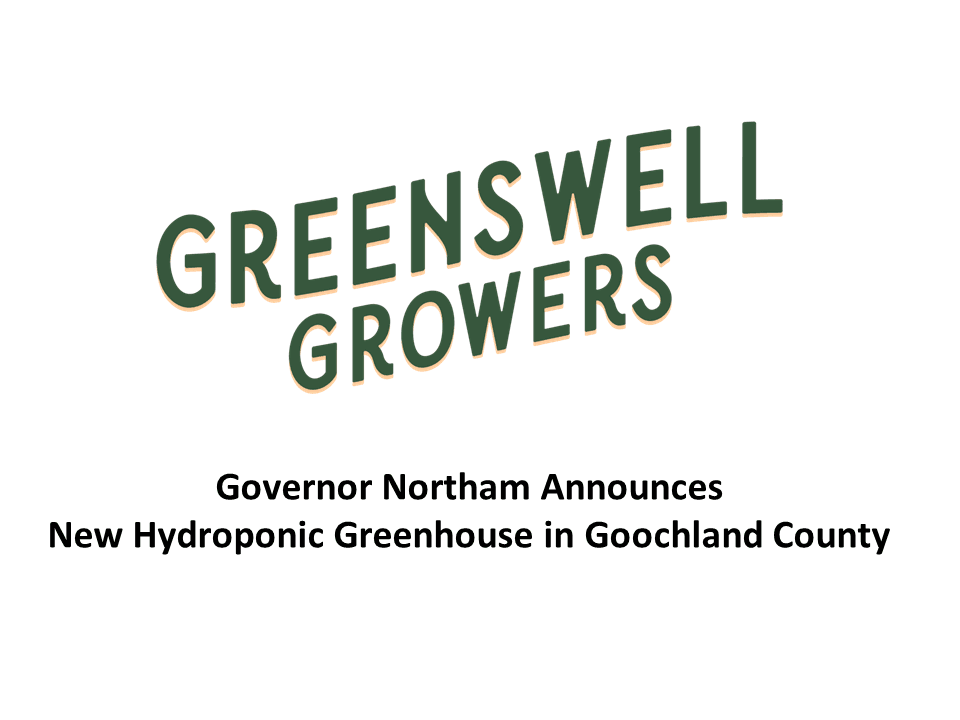 Governor Announces New Hydroponic Greenhouse in Goochland