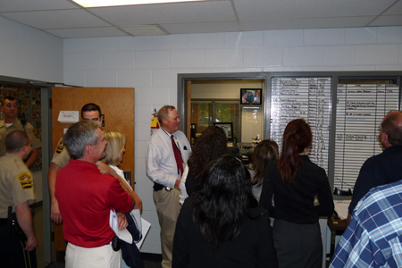 Sheriff Agnew gives  tour of the Sheriffs Office