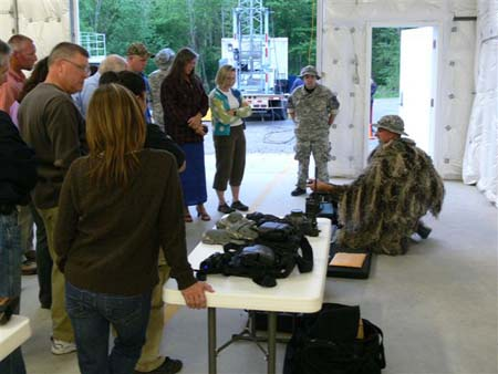 Students get to see how the tactical cameras funct